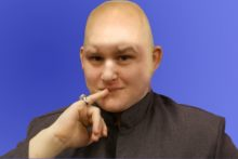 Josh Parry reveals himself as Dr Evil on day 17 of JMU Journalism's advent calendar.