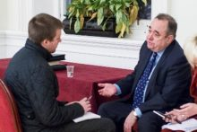 Alex Salmond made the case for Scotland's independence to an audience in Liverpool, before talking exclusively to JMU Journalism.