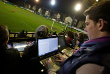 Ten journalism students gained valuable experience of real-life sports reporting when they covered live football at Marine FC.