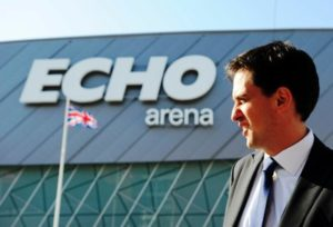 Labour leader Ed Miliband at the Echo Arena © Trinity Mirror