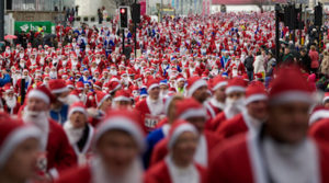 Previous Santa Dash through the streets of Liverpool (Photo by Vegard Grott)