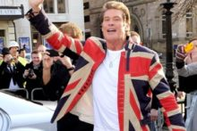 David Hasselhoff followed in the footsteps of fellow Baywatch star Pamela Anderson, as hit ITV show 'Britain's Got Talent' kicked off at the Liverpool Empire.