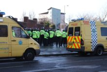 A major disturbance was thwarted by Merseyside Police as opposition to a pro-Irish Republican march threatened to spiral out of control.