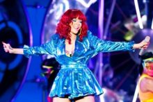 Pop princess Rihanna was as fun and frisky as ever as she brought her Loud Tour to the Echo Arena on Friday.