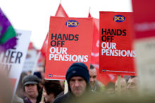 Thousands of people took to the streets of Liverpool to protest against government plans to revise public sector pensions.