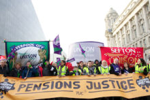 Images taken by JMU Journalism during the protest against public sector reforms held in Liverpool.
