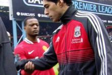 Luis Suarez has issued an apology after he controversially refused to shake Patrice Evra's hand before Liverpool's defeat at Manchester United.