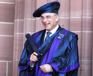 Lord Justice Leveson with his Honorary Fellowship