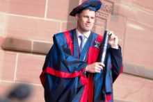 Liverpool FC legend Jamie Carragher talks to JMU Journalism about his delight at receiving LJMU's Honorary Fellowship award.