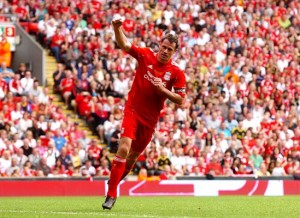 Jamie Carragher in action for Liverpool during his testimonial match against Everton. Pic © Trinity Mirror