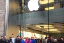 As the latest 'must-have' gadget from Apple was released, hundreds queued at Liverpool One to get their hands on the new iPhone 5.