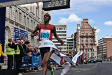 Thousands of runners were treated to perfect sunny weather on the streets of Liverpool as the city's marathon returned.