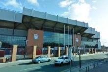 A football fan was stabbed five times following the FA Cup tie between Liverpool FC and Oldham Athletic.