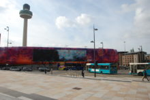 The giant advertising screen on St John's shopping centre is to become a permanent fixture, costing £1m.
