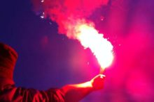 Local football fans have been warned about their use of dangerous explosives inside football grounds.