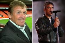 A Hillsborough single backed by Kenny Dalglish and featuring Robbie Williams is taking on X Factor in a bid to be the Christmas number one.