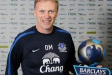 Everton's David Moyes has been named the Premier League manager of the month for September.