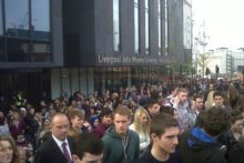 LJMU's new £37.6m Redmonds Building was evacuated on Monday as emergency drill procedures were tested.