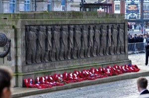 Remembrance Day outside St. George's Hall in Liverpool. Photo: Ida Husøy
