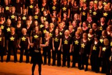 Hundreds of local singers will take to the stage as they raise their voices for charity as part of Rock Choir's 'Big Sing'.