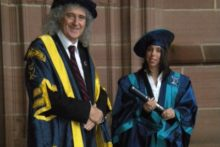Olympic medalist Beth Tweddle returned to Liverpool John Moores University to receive an honorary fellowship.