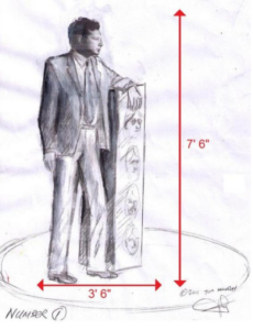 A sketch of the proposed Brian Epstein statue © Tom Murphy
