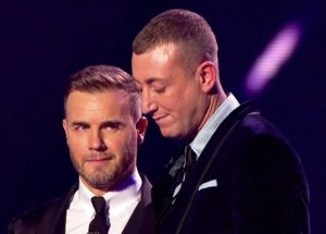 Gary Barlow and Christopher Maloney on X Factor © ITV