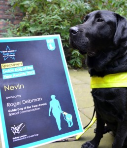 Rogers Guide dog Nevin which was attacked itself