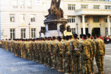 Soldiers from the 1st Royal Tank Regiment marched through Liverpool to mark their return from Afghanistan.