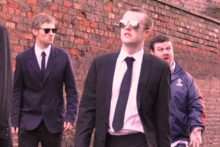 No arguments over which one is Mr Pink as JMU Journalism strikes a pose as 'Reservoir Dogs'.