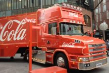 The famous Christmas Coca-Cola truck has returned to Liverpool as part of its festive tour across the UK.