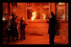 Rioters outside Philharmonic Dining Rooms © Reel Unknown