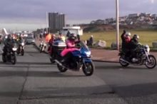 Around 300 bikers took to the road in the 2012 Wirral Toy Run, delivering Christmas gifts to children in hospital.