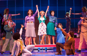 Jackie Clune, Amy Lennox and Natalie Casey in 9 to 5: the musical