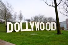 It was a sign of things to come as giant letters spelling out the word 'Dollywood' came to Liverpool city centre.