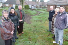 Residents in Maghull are concerned about their village green being churned-up by vehicles turning in the tight road.