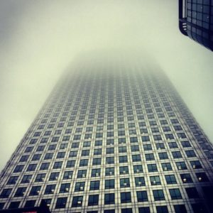 A daunting look up at The Sunday People offices at One Canada Square (c)Alice Kirkland