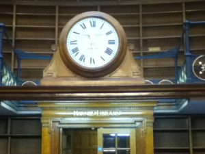 The famous clock that sits in the Picton Reading Room has been restored