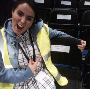 Tara Lamb checks out the seating arrangements for the BBC Sports Personality of the Year show
