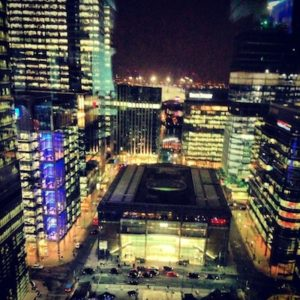The view from Canary Wharf