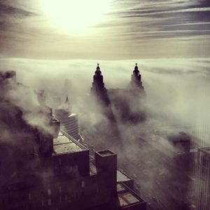 Ida Husøy's famous photo of Liverpool in the fog © Ida Husøy