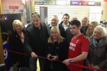 A shop to raise money for Hillsborough families has opened with the help of a number of Liverpool celebrities.