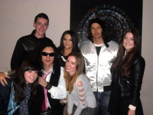 My friends and I with Tommy Wiseau (left) and Greg Sestero (right)