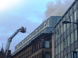 Fire at the Hard Day's Night Hotel. Pic Jill Mathews