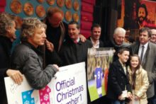 The Justice Collective single which claimed the Christmas number one has been added to Liverpool's Wall of Fame in Mathew Street.