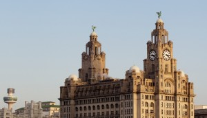 Royal Liver Building at the Pier Head. Pic © Vegard Grott