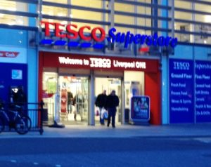 Tesco store in Liverpool One