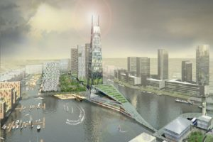 An artist's impression of Wirral Waters © Wirral Waters
