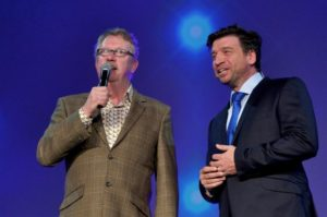 Mark Williams and Nick Knowles at the showcase © BBC Worldwide