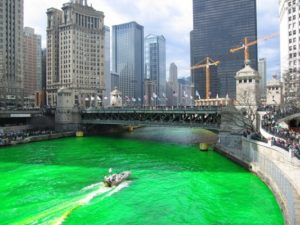 Will Liverpool ever turn the Mersey green to compete with Chicago's 45-year old tradition? Picture © inspiredwater.org